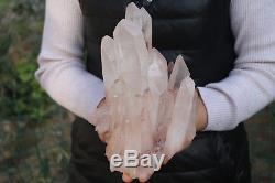 3840g Spéciale Spécimen Tibétain Clair En Cristal De Quartz Clair # 006