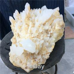 39.49lb Naturel Échantillon De Cristal Minéral De Cluster De Quartz Clair Guérison