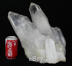 39,6lb Aaa +++ Spécimen De Cristal De Quartz Blanc Naturel Clair Clair