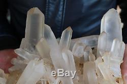3900g Clair Naturel Joli Quartz Crystal Cluster Point Specimen & Madagascar B4