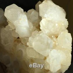 4.0lb Grand Naturel Blanc Clair Quartz Cluster Rugueux De Guérison Des Échantillons