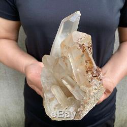 4.0lbs Naturel Quartz Clair Cluster Cristal Minéral Des Échantillons De Guérison Tqs05