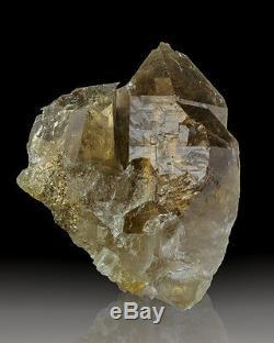 4.1 Cluster De Cristal Naturel Terminé Par Quartz Rutilé Par Or À Vendre