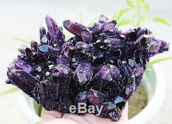 4.13lb Rare! Nouvelle Trouvaille Naturelle Belle Spécimen Améthyste Quartz Crystal Cluster