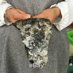 4.22lb Point De Baguette De Cristal De Cluster De Quartz Fumé Naturel Guérissant Px3980