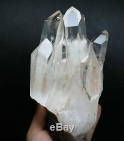 4.76lb Clair Blanc Original Obelisk Cristal De Quartz Point De Baguette Magique Cluster Spécimen