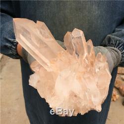 4.84lb Claire Et Naturelle Quartz Cluster Cristal Minéral Des Échantillons De Guérison Bb1495-yh