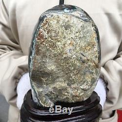 4.95lb Améthyste Naturel Cristal De Quartz Spécimen De Géode Guérison + Standun148