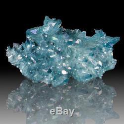 4 Cristaux Riches De Gemmy Aqua Aura Quartz Lrg De Turquoise Riche Ark Pour La Vente