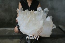 40800g (89.8lb) Naturel Beau Clair De Cristal De Quartz Cluster Tibétain Spécimen