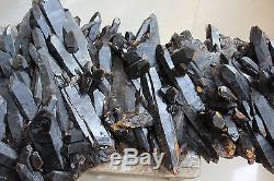 41.85lbs 19 KG Naturel Beau Noir Cristal De Quartz Cluster Tibétain Spécimen