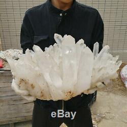 41.97lb Naturelles Grands Amas De Cristaux Blancs Cicatrisent Échantillons Minéraux