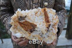 4150g (9.1lb) Spécimen Tibétain Naturel Beau Clair De Cluster De Cristal De Quartz