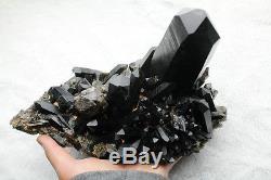 4187g Rare Beautiful Black Quartz Crystal Cluster Tibetan Specimen