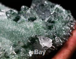 435g Nouveau Trouver Vert Phantom Cristal De Quartz Grappe Minérale Des Échantillons De Guérison