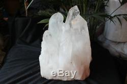 44,1lb 20kg De Points De Cluster De Cristal Blanc Clair Naturel Naturel Brut Énorme