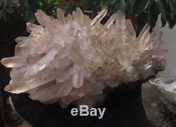 44.29lb Naturel Tibetain Clear Quartz Cluster Cristal Forme Exceptionnelle Spécimen