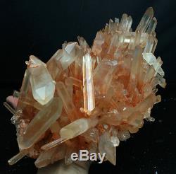 4437g Aaa +++ Blanc Naturel Clair Quartz Rose Peau Cristal Spécimen De Cluster
