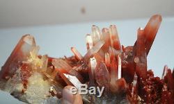 4464g A + Rare Natural Nouveau Trouver Un Spécimen De Cristal De Quartz Rouge Spécimen Reiki Wicca