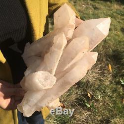 4655g Huge Naturel Blanc Quartz Cristal Reprise Spécimen Reiki Guérison 13