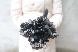 4680g (10.3lb) De Spécimens Tibétains À Grappe De Cristal De Quartz Noir Naturel