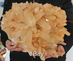 47.8lb Grands Points Cluster En Cristal De Quartz Blanc Brillant Original