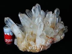 48,84 Lb Aaa +++ Eclair Céramique Blanc Naturel Quartz Cluster Specimen