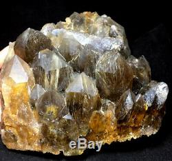 4800g Naturel Golden Hair Rutile Quartz Groupe Point D'échantillons