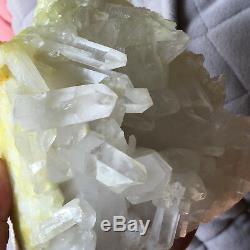 5.0lb Grand Naturel Blanc Clair Quartz Cluster Brut Des Échantillons De Guérison