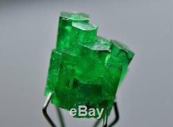 5,20 Ct. Plein D / T Top Bunch Vert Naturel Emeraude Cristal Transparent @ Swat Pk