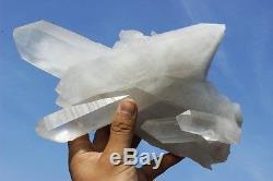 5,58ib Spécifique Nature Blanc Clair Quartz Crystal Cluster Specimen