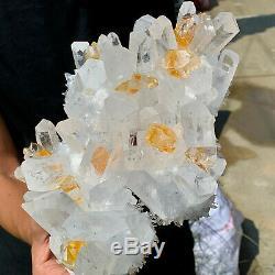 5.87lb Nouveau Trouver Blanc-jaune Phantomquartz Cristal Cluster Minéral Spécimen