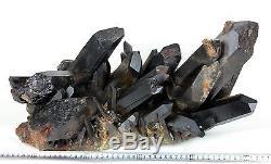 51,04lb Énorme Spécimen De Cristal De Quartz Noir Magnifique Naturel Rare