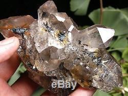 525g Rare Naturel Clair Or Rutilé Quartz Cristal Cluster Spécimen