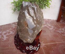 57.9lb Rare Énorme Naturel Unique Squelette Quartz Crystal Cluster Points Tibétain