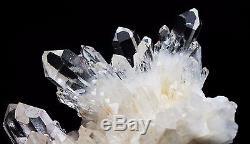 570g Clair Naturel Beau Blanc Squelettique Quartz Cristal Cluster Spécimen