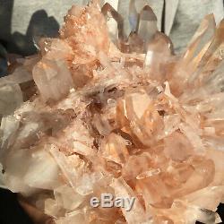 5720g Grand Clair Naturel Rose Quartz Cluster Rugueux De Guérison Des Échantillons