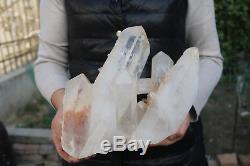 5960g (13.1lb) Spécimen Tibétain Naturel Beau Clair De Cluster De Cristal De Quartz