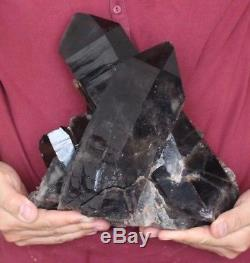 6,2 KG Wow! Cluster Noir Naturel De Quartz Crystal Inner Monglia, Chine