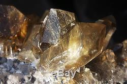 6.27lb Rare Natural Clear Golden Rutilated Quartz Crystal Cluster Specimen