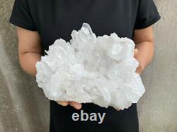 6.5lbs Naturel Quartz Clair Cluster Cristal Minéral Des Échantillons De Guérison Tqs19