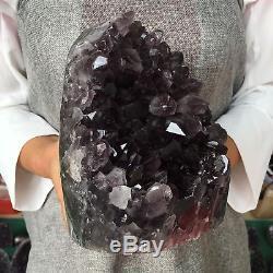 6.77lb Améthyste Naturelle Géode Quartz Cluster Cristal Spécimen De Guérison At5353