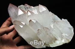 6,7lb Clair Naturel Beau Rouge Mica Quartz Cristal Cluster Tibétain Spécimen