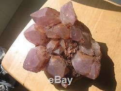 6050g (13.35lb) Spécimen Minéral Original De Grappe De Quartz De Quartz D'améthyste Naturelle