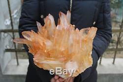 6050g (13.3lb) Spécimen Tibétain Naturel Beau Clair De Cluster De Cristal De Quartz
