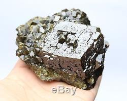 626g Naturel Andradite Grenat Cristal Cluster Quartz Inner Mongolia Chine