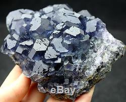 650,2g Natural Blue Fluorite Echantillonneur De Cristaux De Quartz En Cristal De Quartz