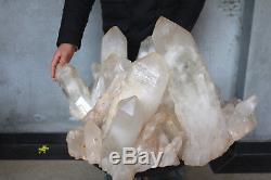 67900g (149.6lb) Spécimen Tibétain Naturel Beau Clair De Cluster De Cristal De Quartz