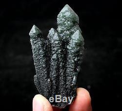69.6g Nouveau Trouver Naturel Squelettique Elestial Vert Quartz Spécimen De Grappe De Cristal
