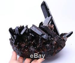 6995g Naturel Rare Beau Noir Quartz Cristal Cluster Spécimen Minéral 456